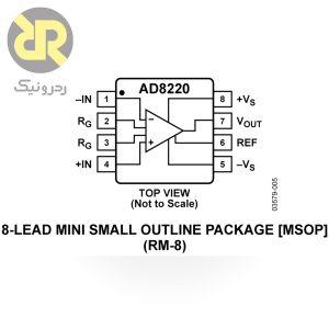 تقویت کننده ابزار دقیق AD8220
