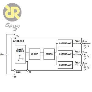 سنسور شتاب سنج آنالوگ ADXL330
