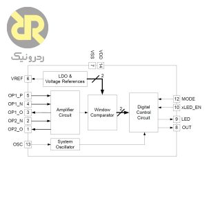 آی سی درایور سنسور NCS36000 PIR