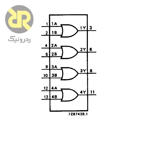 آی سی گیت OR دو ورودی 74HCT32