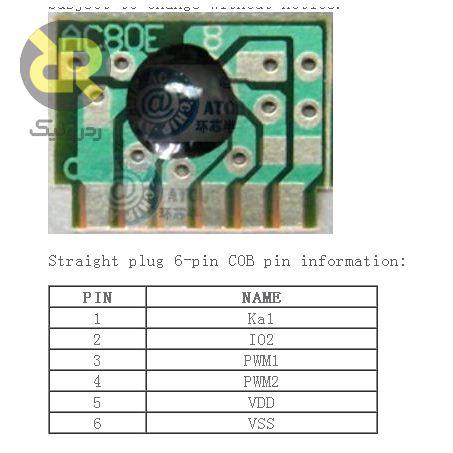 چیپ موزیک زنگ در AC80E