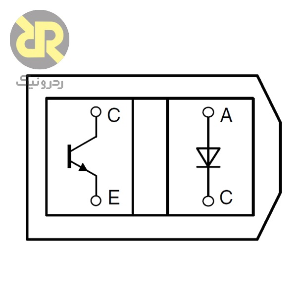 سنسور نوری فرستنده گیرنده مادون قرمز TCRT5000