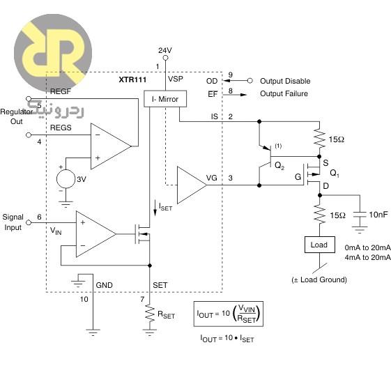 آی سی مبدل ولتاژ به جریان XTR111AIDG