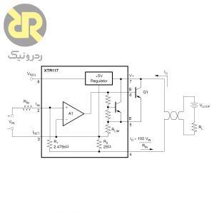 آی سی مبدل ولتاژ به جریان XTR117AIDGKR