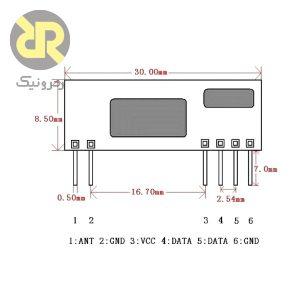 ماژول گیرنده رادیویی سوپر هیتروداین 433 مگاهرتزی ET-RXB22