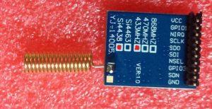 ماژول فرستنده گیرنده رادیویی 433 مگاهرتز SI4438