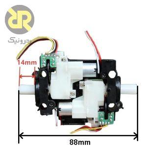 موتور گیربکس انکودر دارد 5 ولت 500 دور دو محور