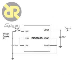 رگولاتور سوئیچینگ افزاینده DIO6605BFN8