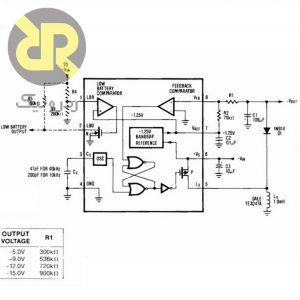 رگولاتور سوئیچینگ کاهنده ولتاژ منفی MAX4391CPA