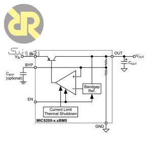 رگولاتور MIC5205-3.3BM5 LDO 3V3
