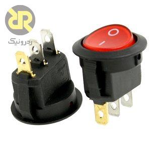 کلید راکر گرد دو حالته KCD1-201N,