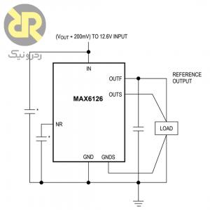 آی سی ولتاژ رفرنس بسیار دقیق +MAX6126AASA21