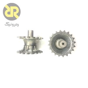 چرخ ربات تانک با آلیاژ روی (Zinc Alloy) 4mm
