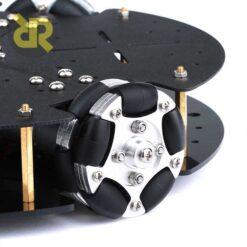 شاسی ربات 58mm با سه چرخ Omnidirectional و موتور انکودر دار
